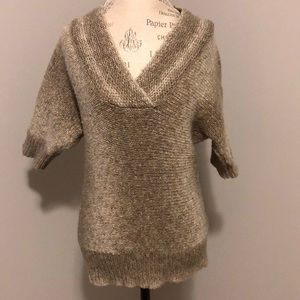 Limited Brown V-neck Chunky Knit Sweater